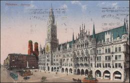 AK München - Rathaus, MÜNCHEN Zustellpostamt Angeben - 8.3.26 Nach Tüssling - Cartes Postales