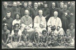 AK Yule / Papua-Neuguinea, Jubilé épiscopal De Mgr. De Boismenu, Missionare Und Einheimische - Papoea-Nieuw-Guinea