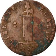 Monnaie, Haïti, 2 Centimes, 1840, Backward 4, TB, Cuivre, KM:A22 - Haiti