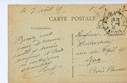 """SAVOIE CP 1919 """" FM GUICHET """" SUR CP EN FM REMISE AU GUICHET POUR EVITER LA TAXE AIX LES BAINS - Marcophilie (Lettres)"""