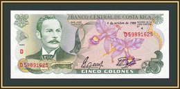 Costa Rica 5 Colones 1989 P-236 (236d.19) UNC - Costa Rica