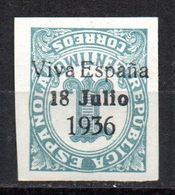 Sello Patriotico Nº 37hi   Santa Cruz De Tenerife. - Fiscaux