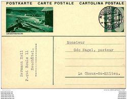 """8-99 - Entier Postal Avec Illustration """"Degersheim"""" Cachet Neuchâtel 1933 - Postwaardestukken"""