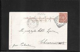 Camerino 1901, Annullo Tondo Riquadrato Su Cartolina Per Chiaromonte (qualche Difetto) (ref 1527a) - Storia Postale