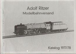 Catalogue RITZER ADOLF Modellbahnversand 1977/78 - Duits