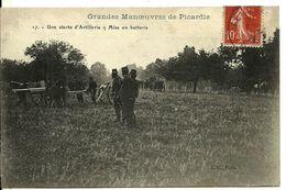 GRANDES MANOEUVRES De PICARDIE  Une Alerte D' Artillerie - Mise En Batterie - Manovre