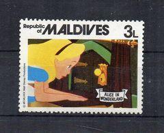 Maldive - 1980 - Francobollo Tematica Disney - Alice Nel Paese Delle Meraviglie - Nuovo ** - (FDC22295) - Maldives (1965-...)