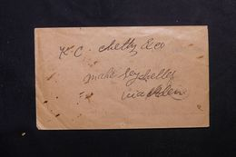 INDE - Enveloppe Pour Mahé ( Seychelles ) Via Aden En 1910, Affranchissement Au Verso - L 62668 - India (...-1947)