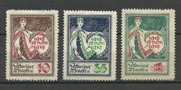 LETTLAND Latvia 1919 Michel 33 - 35 (*) Mint No Gum/ohne Gummi - Lettland