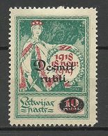 LETTLAND Latvia 1921 Michel 69 (*) Mint No Gum/ohne Gummi - Lettland