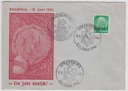 Deutsche Besetzung Elsass GA Mit SST Strassburg - Occupation 1938-45