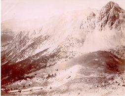 Col Des Acles Et Sommet Du Guiau - Photo Originale Fin XIXe (25cm X 19cm) - Andere Gemeenten