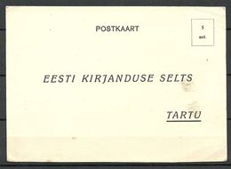 Estland Estonia 1936 Advertising Post Card Reklamepostkarte Unused - Estonia