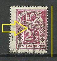ESTLAND Estonia 1922 Michel 35 A O RROR Zähnungsabart Perforation Variety - Estonia