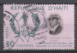 Haiti 1966 Used Football, Soccer, Airmail - Caribbean Football Championships - Haïti