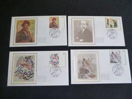 """BELG.1998 2741 2742 2743 & 2744 FDC's Soie/zijde (Gent)   : """" Kunst In Belgie /Art En Belgique """" - FDC"""