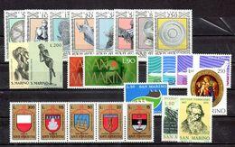 San Marino 1974 - Annata 1974 Completa Sottofacciale MNH ** Leggere Descrizione - Saint-Marin