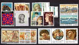 San Marino 1975 - Annata 1975 Completa Sottofacciale MNH ** Leggere Descrizione - Saint-Marin