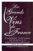 Visitekaartje - Carte Visite - Wijn Vin - Les Grands Vins De La France - Epernay - Visiting Cards