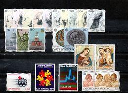 San Marino 1976 - Annata 1976 Completa Sottofacciale MNH ** Leggere Descrizione - Saint-Marin