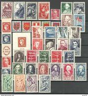 1949  ANNEE COMPLETE DES TIMBRES POSTE DE FRANCE  NEUFS ** - Francia