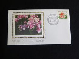 "BELG.1997 2733 FDC Zijde/soie (Brus/Brux) :"" Rhododendron "" - FDC"