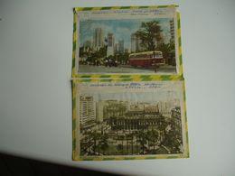 Lot De 2 Enveloppe Illustre  Lettre Bresil 6 Timbres - Brazil