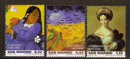 "(Fb).San Marino.2003.""Pittori"".Serie Completa Nuova,integra (118-20) - San Marino"