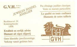 Visitekaartje - Carte Visite - Juwelen G.V.H. - Lier - Visiting Cards