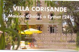Visitekaartje - Carte Visite - Villa Corisande - Maison D'hotes à Eymet - Visiting Cards