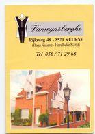 Visitekaartje - Carte Visite - Ceremonie & Feestkledij Vanwijnsberghe - Kuurne - Visiting Cards
