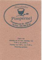 Visitekaartje - Carte Visite - Bloembinderij Pimpernel - Lier - Visiting Cards