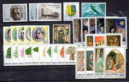 San Marino 1979 - Annata 1979 Completa Sottofacciale MNH ** Leggere Descrizione - Saint-Marin