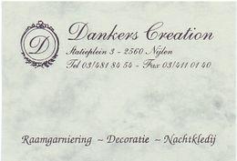 Visitekaartje - Carte Visite - Decoratie Dankers Creation - Nijlen - Visiting Cards