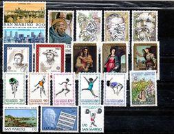 San Marino 1980 - Annata 1980 Completa Sottofacciale MNH ** Leggere Descrizione - Saint-Marin