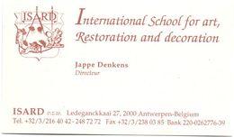 Visitekaartje - Carte Visite - International School Of Art - ISARD - Antwerpen - Jappe Denkens - Visiting Cards