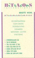 Visitekaartje - Carte Visite - Decoratie Bitracons - Brigitte Wijns - Wilrijk - Visiting Cards