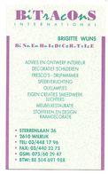 Visitekaartje - Carte Visite - Binnenhuisdecoratie Bitracons - Brigitte Wijns - Wilrijk - Visiting Cards