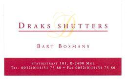 Visitekaartje - Carte Visite - Draks Shutters - Bart Bosmans - Mol - Visiting Cards