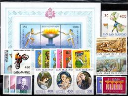 San Marino 1984 - Annata 1984 Completa Sottofacciale MNH ** Leggere Descrizione - Saint-Marin