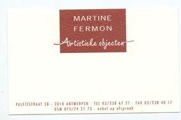 Visitekaartje - Carte Visite - Artistieke Objecten Martine Fermon - Antwerpen - Visiting Cards