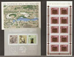 Allemagne Fédérale 1968/94 - Petit Lot De 14 Blocs MNH - Kilowaar (max. 999 Zegels)