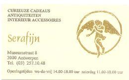 Visitekaartje - Carte Visite - Cadeaus Antiek Serafijn - Antwerpen - Visiting Cards