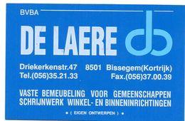 Visitekaartje - Carte Visite - Interieur Inrichtingen De Laere - Bissegem - Visiting Cards