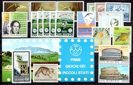 San Marino 1985 - Annata 1985 Completa Sottofacciale MNH ** Leggere Descrizione - Saint-Marin
