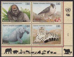 UNO-Genf, 1993, 227/30,  MNH **, Gefährdete Arten (I): Fauna. - Nuevos