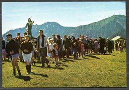 CV3291 CUSIO (Bergamo BG) Alta Valle Brembana, La Processione Dell'Assunta Sull'altipoano Dell'Avaro, FG, Non Viaggiata, - Bergamo