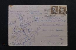 FRANCE - Signatures De L 'équipe De L'Olympique Lyonnais Vainqueurs 3/1 Contre Odense En 1963 - A Voir - L 62686 - Autógrafos