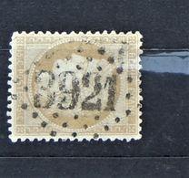 05 - 20 // France N° 59 - Ceres 15 C Bistre Oblitération GC 3921 - Les Ternes - Seine - 1871-1875 Cérès
