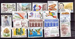 Andorre Espagnol 1983 1984 1985 Années  Complètes 158 à 176  Et Pa 2/4 Neuf ** MNH Sin Charmela Cote 18.9 - Neufs